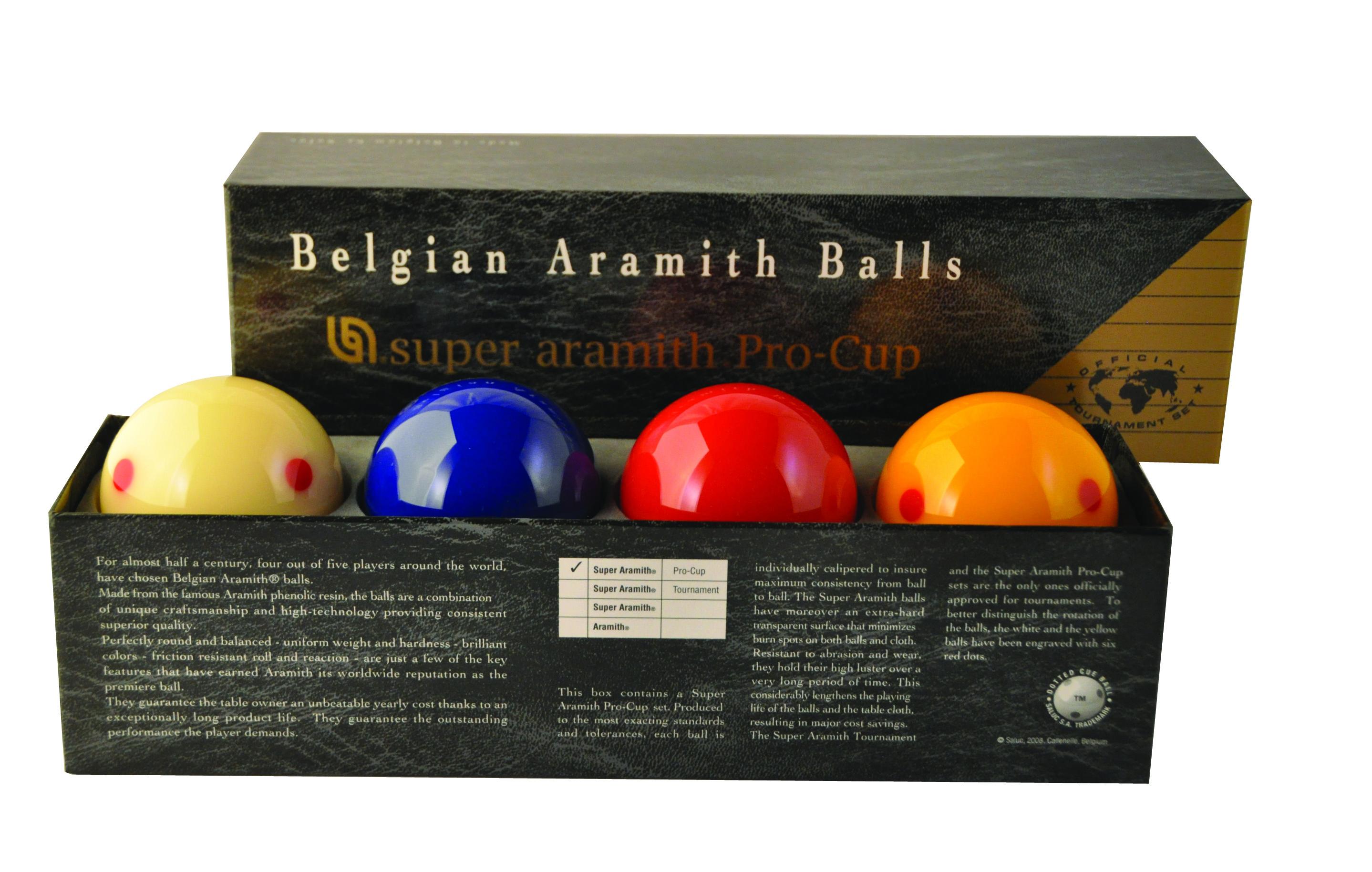 Billiard balls CAROM Super Aramith Pro-Cup, 61,5 mm, 4 balls in set