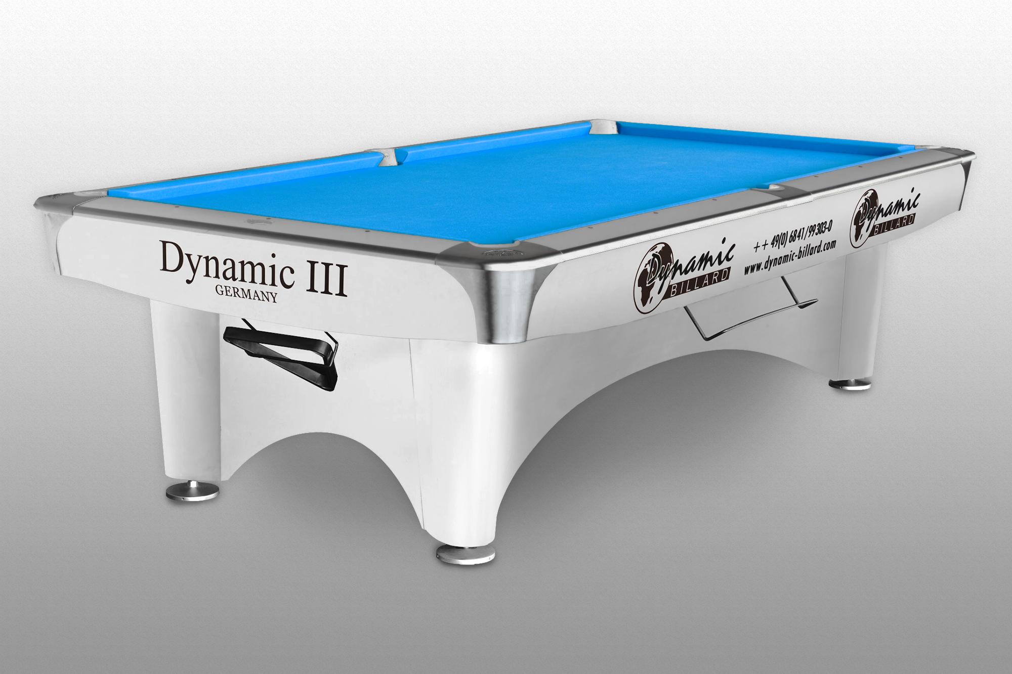 Billiard Table Dynamic III Ft Glossy White Pool Billiardprocz - White billiard table
