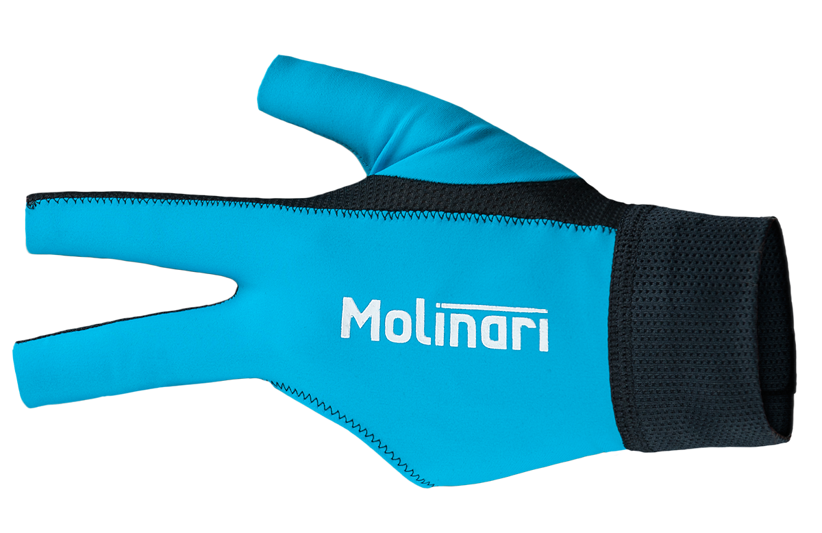 Billiard Glove Molinari Cyan Blue Universal Size Left