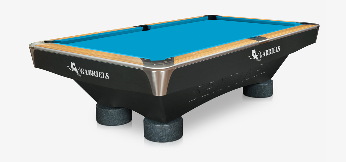 Billiard Table GABRIELS SENTINEL Zebrano Ft Pool Billiardprocz - El pool table